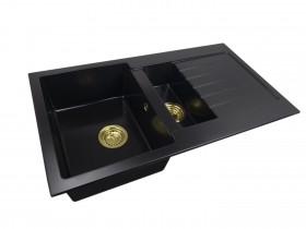 1,5-chamber granite sink  INES + gold trap