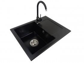 Granite sink one-part RITA + faucet MERCURY