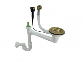 Single-chamber manual siphon OLD GOLD