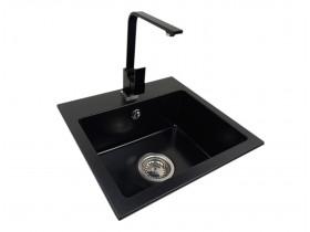 Granite sink one-part EVA + faucet URAN