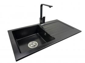 Granite sink one-part MIRA + faucet URAN