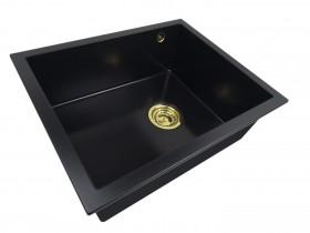 Granite sink one-part SISY + gold trap